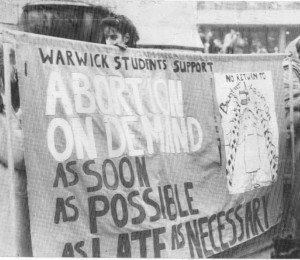 Campaigning against the Alton Bill, Birmingham 1987